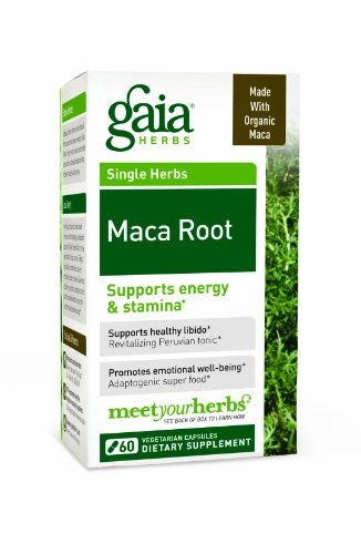 Gaia Herbs Dietary Supplement, Maca Root, 60 Count