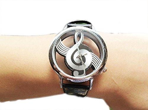 SaySure - Top Quality Fashion Leather Music Symbol Pattern Quartz Watch for Women - CHA-UK-CJ-BG-000372
