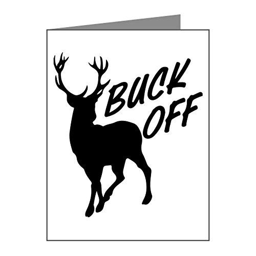 Greeting Cards (10 Pack) Buck Off Deer Hunter Hunting