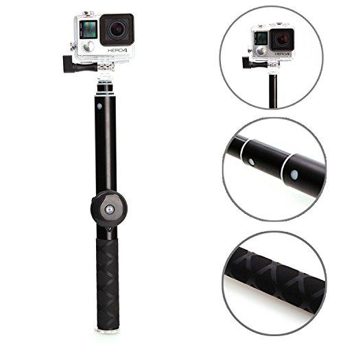 1 pro selfie stick aerb extendable handheld monopod pole w bluetooth remot. Black Bedroom Furniture Sets. Home Design Ideas