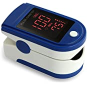Acc U Rate Pro Series CMS 500DL Fingertip Pulse Oximeter Blood Oxygen Saturation Monitor With Silicon Cover Batteries...