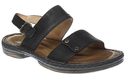 Mjus 434011-0101 - Scarpe Uomo Sandali Pantofole - F8985-64 - 0001 NERO/LEGNO, Uomo, 43 EU