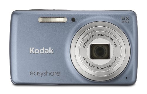 Kodak EasyShare M552 14 MP Digital Camera with 5x Optical Zoom and 2.7-Inch LCD - BlueGray (New Model)