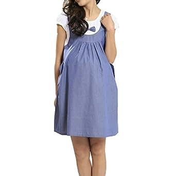 sexy maternity onepiece dress pregnancy denim bow for