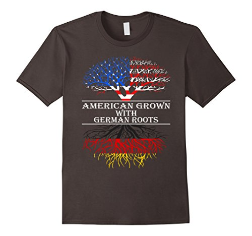 American Grown With German Roots T-Shirt - Male Large - Asphalt