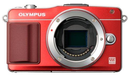 OLYMPUS ミラーレス一眼 PEN mini E-PM2 ボディ レッド E-PM2 BODY RED