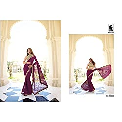 Sahiba Women's Georgette SAREE with Fancy Fabrics (SS_24_Pack of 1_Large)