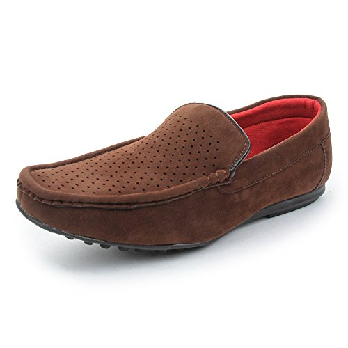 BACCA-BUCCI-MEN-BROWN-PU-LOAFERS
