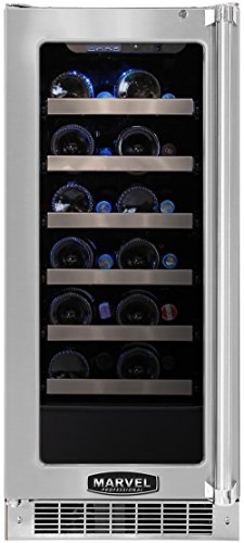 Marvel Mpro3Wcm-Bs-Ll 15-Inch Professional Wine Cellar With Framed Glass Left Hinge Door With Ss