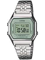 Casio LA680WEA-7EF - Reloj digital de cuarzo para mujer con correa de acero inoxidable, color plateado