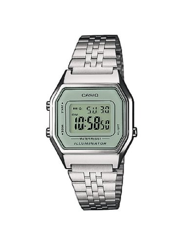 Casio Collection LA680WEA-7EF Orologio Digitale da Polso, Unisex, Acciaio Inox, Metallizzato