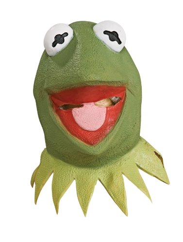 The Muppets Deluxe Adult Kermit Overhead Latex Mask