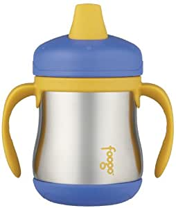 Thermos Foogo Leak-Proof SS 7 Ounce Sippy Cup with Handles, Blue, 6 Months (Discontinued by Manufacturer)