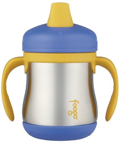 Foogo By Thermos Leak-Proof Ss 7 Oz Sippy Cup With Handle In Blue front-1046672