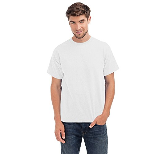 hanes-beefy-t-mens-cotton-crew-neck-tagless-top-white-4xl