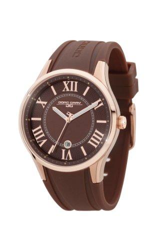 Jorg Gray JG1200-13 - Reloj analógico de cuarzo para mujer, correa de goma color marrón