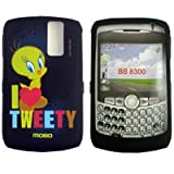 Looney Tunes Shield Protector Case for BlackBerry Curve 8300 8310 8320 8330, Tweety Black