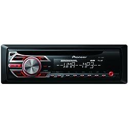 Pioneer DEH-150MP - Radio con CD/MP3 para coches (200 W), rojo