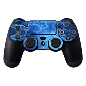 Protective Vinyl Skin Decal Cover for Sony PlayStation DualShock 4 Controller Sticker Skins Blue Mystic Flames
