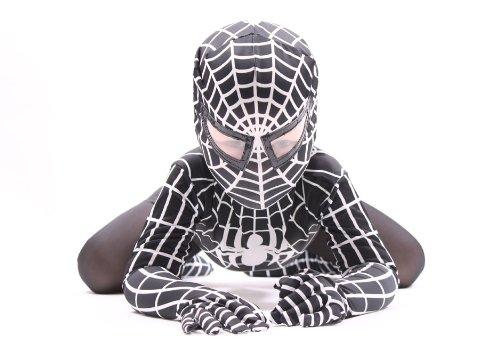 Deluxe Bambini 'Venom' Super Eroe Ragno (Nero, 8-10 anni)