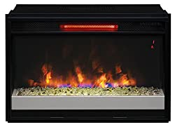 """ClassicFlame 26II310GRG-201 26"""" Contemporary Infrared Quartz Fireplace Insert with Safer Plug by Twin Star International, Inc."""