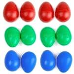 12 x Plastic Egg Maracas Shakers Musi...