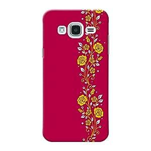 INKIF Blue Pattern Designer Case Printed Mobile Back Cover for Samsung Galaxy j3 (Pink )