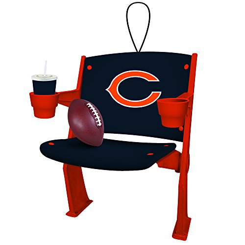 Chicago Bears Official NFL 4 inch x 3 inch Stadium Seat Ornament