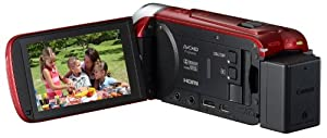 Canon デジタルビデオカメラ iVIS HF R42 レッド 光学32倍ズーム IVISHFR42RD