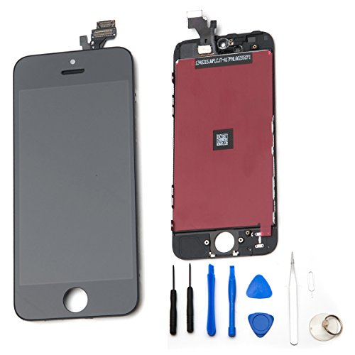 Gbb Front Touch Screen Digitizer Lcd Display Repair Assembly For Iphone 5(Black)