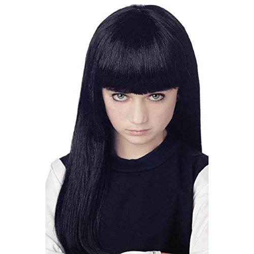 Child's Long Black Witch Halloween Costume Wig