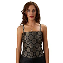 Brocade Silk Corset Top