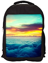 Snoogg Aerial Sunrise Epic Backpack Rucksack School Travel Unisex Casual Canvas Bag Bookbag Satchel