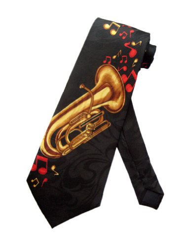 Steven-Harris-Mens-Tuba-Jazz-Marching-Band-Necktie-Black-One-Size-Neck-Tie