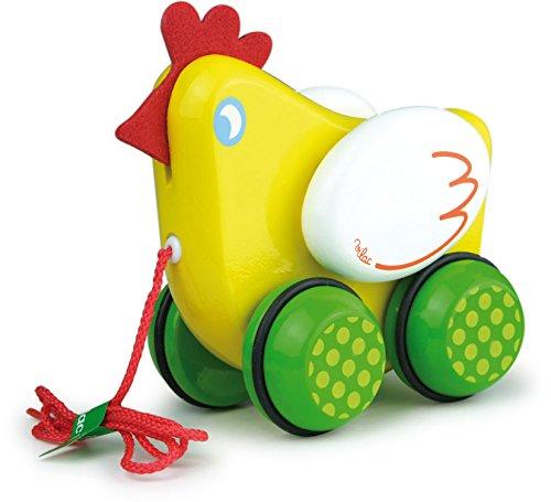 Vilac Pull Toy, Poupule the Hen