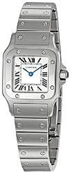 Cartier Womens W20056D6 Santos Stainless Steel Watch