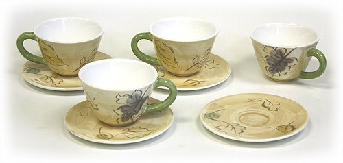 8 Piece 9.5 Oz. Seasons Tea Cups & Saucers Set by Hues & Brews сумка спортивная женская dakine sienna sie