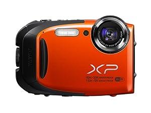 Fujifilm FinePix XP70 Kompaktkamera (Full HD, 16 Megapixel, 6,9 cm (2,7 Zoll) Display, 5-fach opt. Zoom, WiFi, wasserdicht (10m), stoßfest (1,5m), staubgeschützt) orange