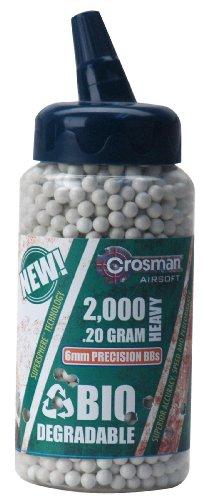 Crosman 6mm biodegradable airsoft BBs, 0.20g,