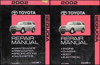 2002-toyota-sequoia-repair-shop-manual-original-set