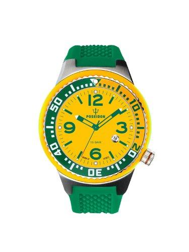 Kienzle POSEIDON S Slim K2103019013-00412 - Reloj analógico de cuarzo unisex, correa de silicona color verde