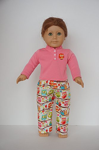 Doll Clothes Sewing Kit, Owl Pajamas, Pattern, and Fabric Fits 18 ...
