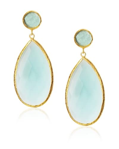 Coralia Leets Large Apatite Quartz Earrings