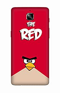 Flauntinstyle the red Hard Back Case Cover For One Plus Three
