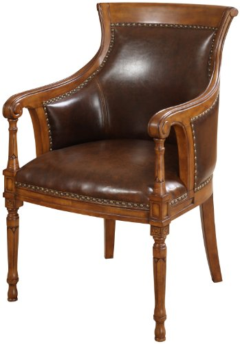 Furniture of america eagan leatherette accent chair with