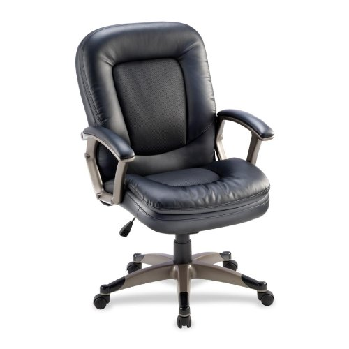 "Lorell - Mid-back Chair, 27""x32-1/2""x43-1/2"", Black, Sold as 1 Each, LLR 69519"