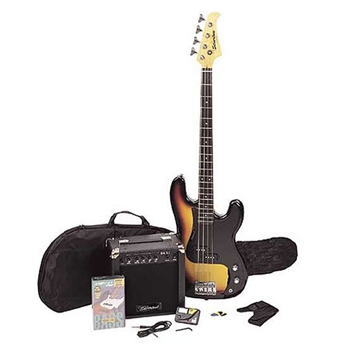Silvertone LB11 Bass & Amp Package, Sunburst