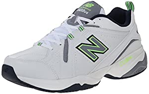 New Balance Men's MX608V4 Training Shoe, White/Navy/Grey, 11.5 D US