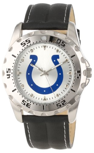Game Time Men'S Nfl-Wwg-Ind Indianapolis Colts Analog Strap Watch And Wallet Set