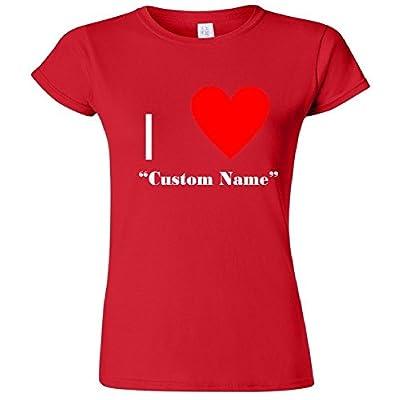 I Heart Custom Name Women's Junior T-Shirt
